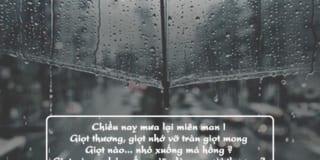 Tâm sự giọt mưa